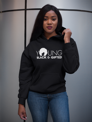 Fashionable Women's– YBG Hooded Black Sweatshirt