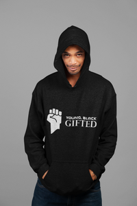 UNISEX– STYLISH YBG Hooded Black Sweatshirt