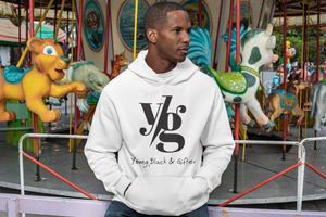 YBG Collection Unisex Heavy Blend™ White Hooded Sweatshirt