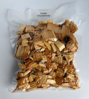 Cedar Smoking Chips PRE-SOAKED in Chardonnay and READY to USE