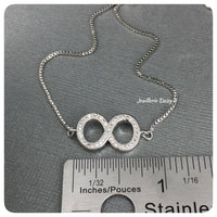 Cubic Zirconia Infinity Adjustable Bracelet