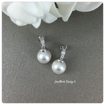 Swarovski White Pearl Stud Earrings