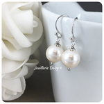 Swarovski 10mm White Pearl Drop Earrings