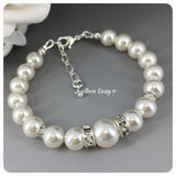 Swarovski White Pearl Single Strand Bracelet