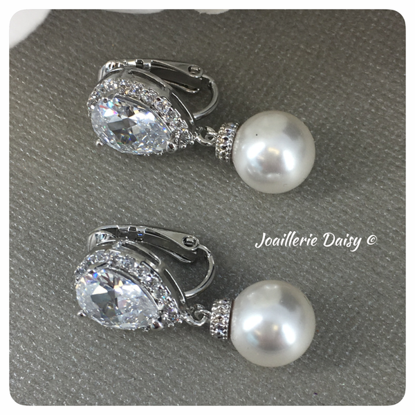 Swarovski Pearl Clip-on Earrings