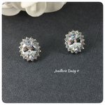 Cubic Zirconia Oval Bridal Stud Earrings