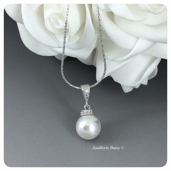 Swarovski White Pearl Pendant Necklace