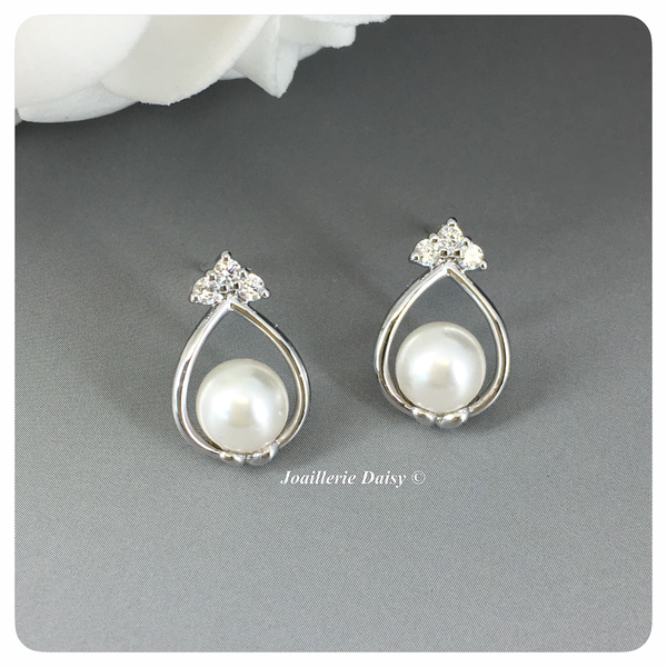 Swarovski Pearl Princess Stud Earrings