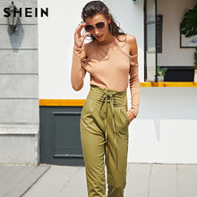 SHEIN Pink Open Shoulder Double Strap Curved Hem Blouse Autumn Casual Cold Shoulder Tops Long Sleeve Slim Blouse
