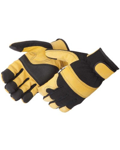 Lightning Gear® GoldenKnight™ Golden Grain Pigskin Mechanic Gloves [0912]