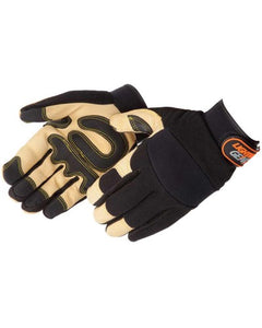 Lightning Gear® GoldenKnight™ Premium Pigskin Mechanic Gloves [0913]