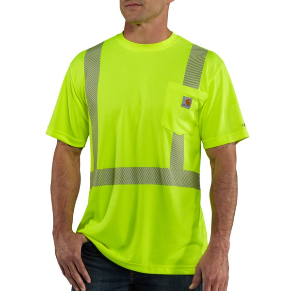 Carhartt Force® High-Visibility Short-Sleeve Class 2 T-Shirt, Brite Lime [100495-323]