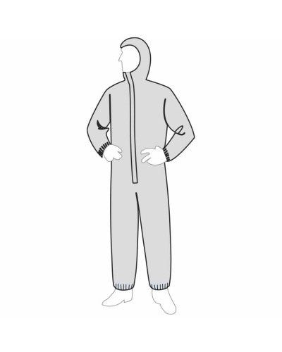 PERMAGARD™ COVERALL - ATTACHED HOOD & ELASTIC ANKLES [18127]