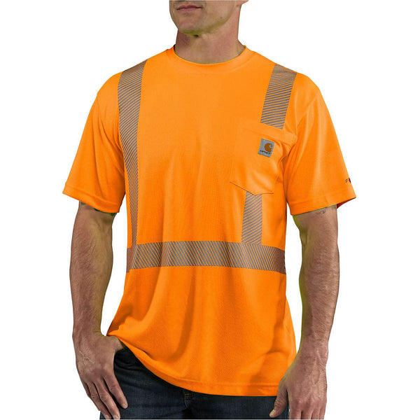 Carhartt Force® High-Visibility Short-Sleeve Class 2 T-Shirt, Brite Orange [100495-824]