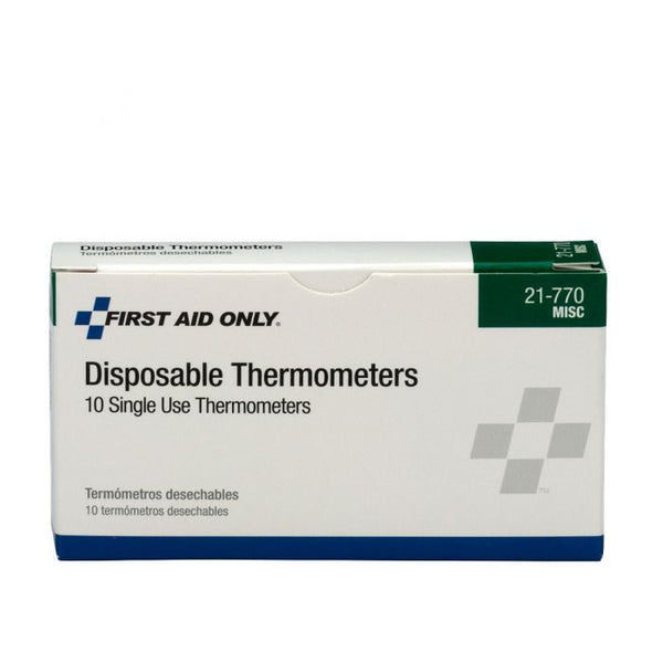 First Aid Only ™ Disposable Thermometers, 10 Per Box [21-770]