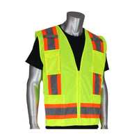PIP® ANSI Type R Class 2 Two-Tone Eleven Pocket Surveyors Vest
