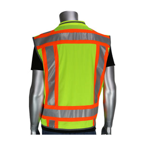 PIP® ANSI Type R Class 2 Two-Tone Fifteen Pocket Tech-Ready Ripstop Surveyors Vest with Mesh Back