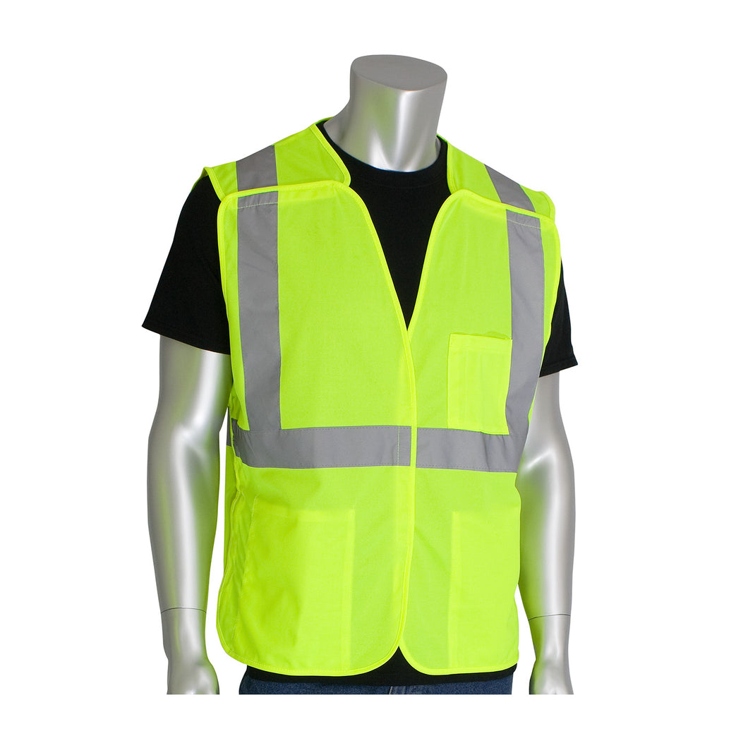 PIP® ANSI Type R Class 2 Three Pocket Solid Breakaway Vest