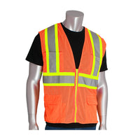 PIP® ANSI Type R Class 2 Two-Tone Eleven Pocket Premium Mesh Surveyors Vest