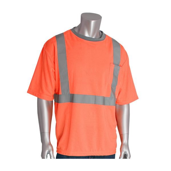 PIP® ANSI Type R Class 2 Short Sleeve T-Shirt, Hi-Vis Orange [312-1200OR]