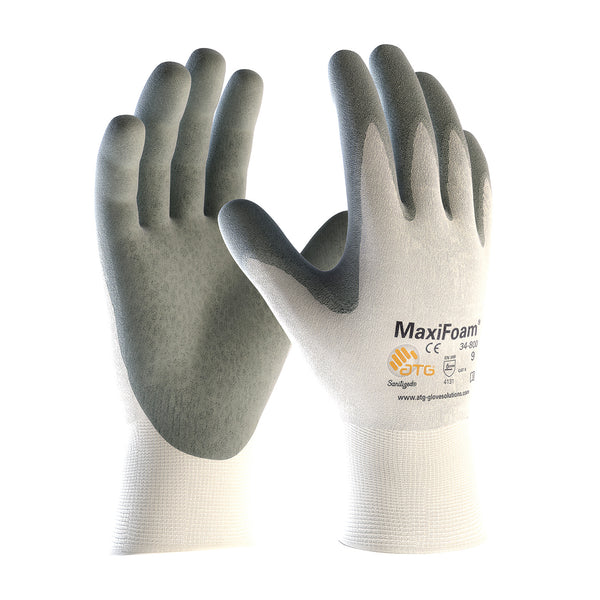 MaxiFoam® Premium Seamless Knit Nylon Glove with Nitrile Coated Foam Grip on Palm & Fingers [34-800]