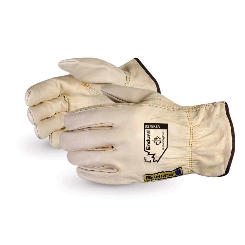 Endura® Cowhide Leather Driver Gloves