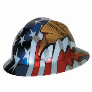 MSA® Freedom Series V-Gard Helmet American Flag w/2 Eagles [454-10071159]