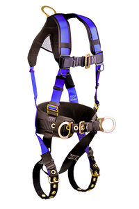 Falltech 7073B Contractor+ Premium Harness, 3 D-Rings, 1 Dorsal and 2 Hips. [7073B]