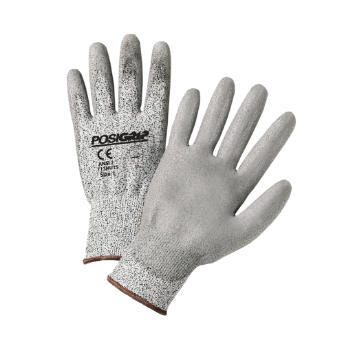 West Chester® Touch Screen Gray PU Palm Coated Speckle Gray HPPE Gloves