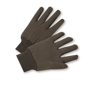 West Chester® Standard 100% Cotton Brown Jersey Gloves