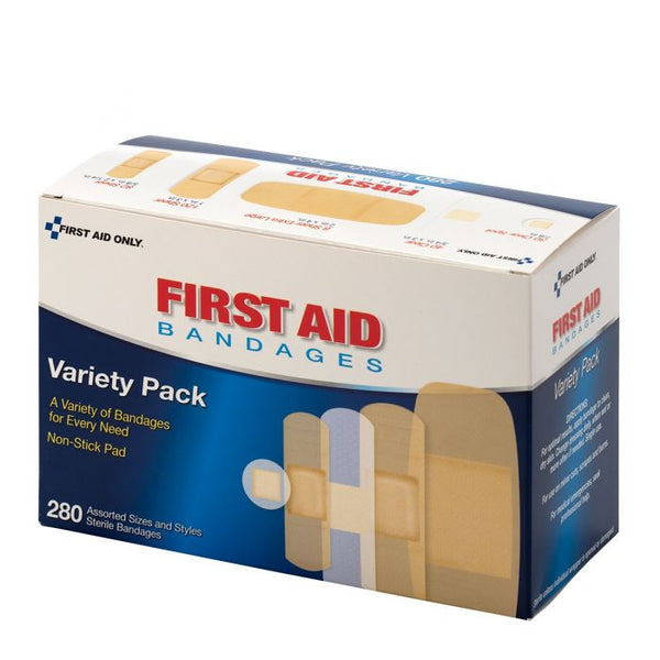 First Aid Only™ Sheer & Clear Bandage Variety Pack, 280 Count [90347]