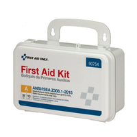 First Aid Only™ 10 Person Bulk PLASTIC First Aid Kit, ANSI Compliant [90754]