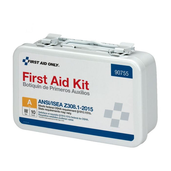 First Aid Only™ 10 Person Bulk METAL First Aid Kit, ANSI Compliant [90755]