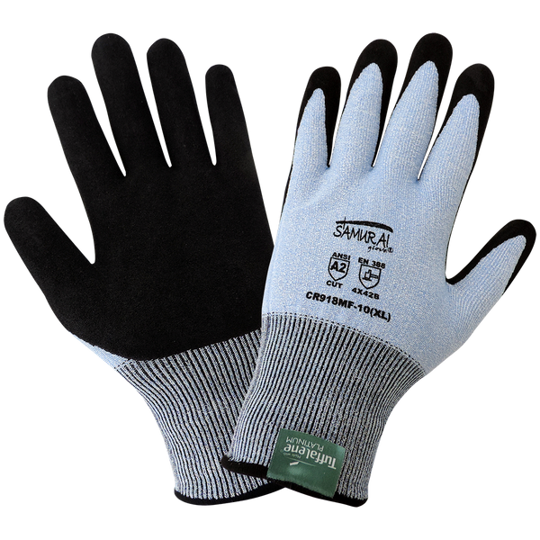 Samurai Glove® Lightweight Cut Resistant Gloves Made With Tuffalene Platinum Cut A2 [CR918MF]