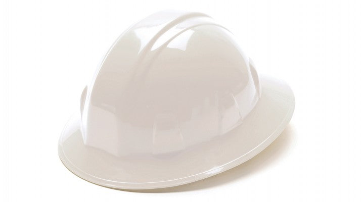 SL Series Full Brim Hard Hats, 4-Point Ratchet Suspension