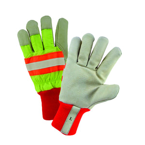 Westchester® High-Visibility Yellow Grain Pigskin Leather Palm Lined Gloves [ HVY1555]