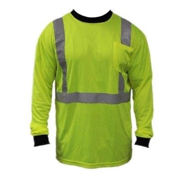 HiVizGard Class 2 Long Sleeve T-Shirt, Lime Green [C16700G]