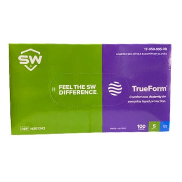 SW® TrueForm Everyday Nitrile Exam Gloves, 100 per box