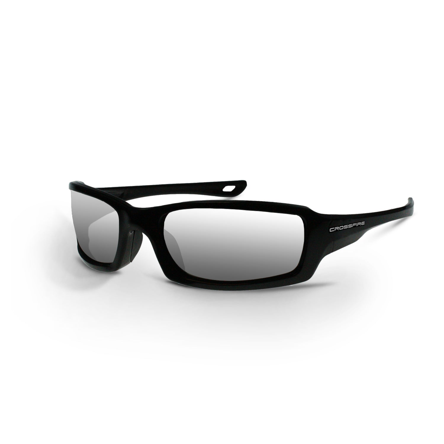Crossfire M6A Safety Glasses with Metallic Blue Frame and Blue Mirror Lens