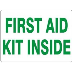 "3X5 ""FIRST AID KIT INSIDE"" STICKER"