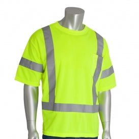 PIP® Type R Class 3 Short Sleeve Safety T-Shirt, Hi-Vis Yellow [313-CNTSELY]