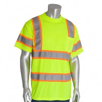 PIP® ANSI Type R Class 3 Two-Tone T-Shirt, Hi-Vis Yellow [313-CNTSPLY]