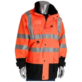 PIP® ANSI Type R Class 3 7-in-1 All Conditions Coat with Inner Jacket and Vest Combination, Hi-Vis Orange [343-1756/OR]