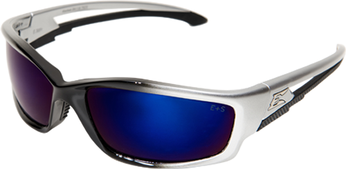Edge® Safety Glasses Kazbek Series Blue Mirror Lens [SK118]