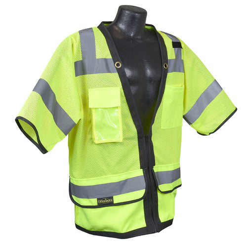 Radians® Type R Class 3 Heavy Duty Surveyor Safety Vest With Zipper [SV59Z-3ZGD]