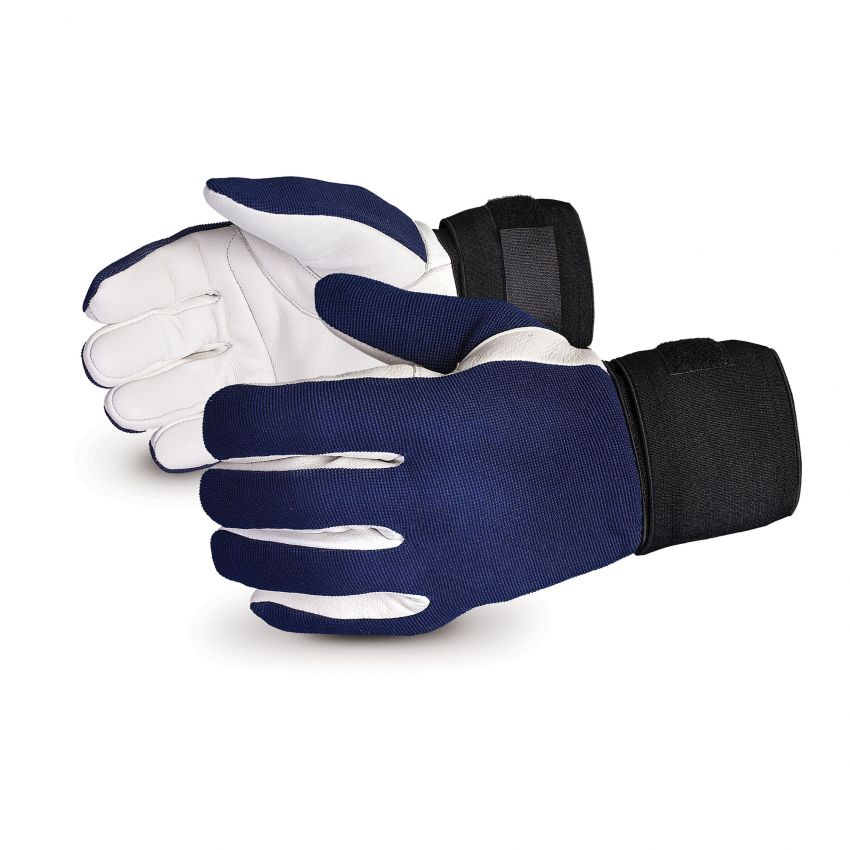 Superior Glove® Vibrastop™ Goatskin Leather Palm Full-Finger Vibration-Dampening Gloves