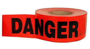 "PrimeGuard Red Danger Barricade Tape 3"" x 100'- [BT5057]"