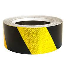 "Superbrite Reflective Tape Yellow/ Black 2"" x 30' [HRT230YB]"