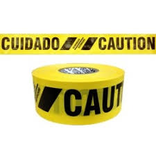 "Reinforced Barricade Tape Caution/Cuidado 3""x 500'- [SBR35XY13]"