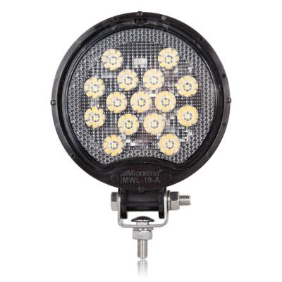Maxxima® Round 15 LED Black Work Light 675 Lumens 12/24VDC [MWL-19-A]